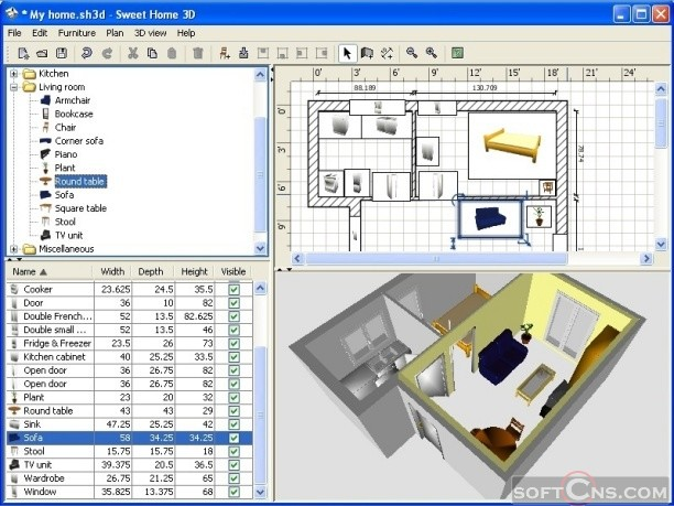 Furniture Blueprints Software