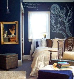 Silence Nights themed bedroom