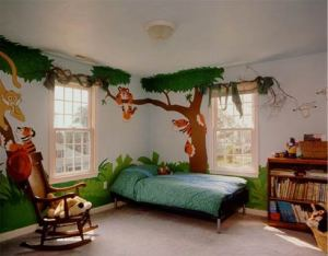 Safari themed kids room